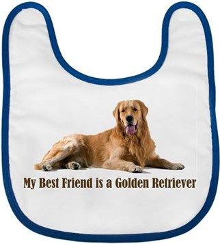 Köpekli - My Best Friend is a Golden Retriever Kendin Tasarla - Bebek Önlüğü