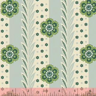 Really like both the vintage feel and the color scheme.  Future living room curtains?