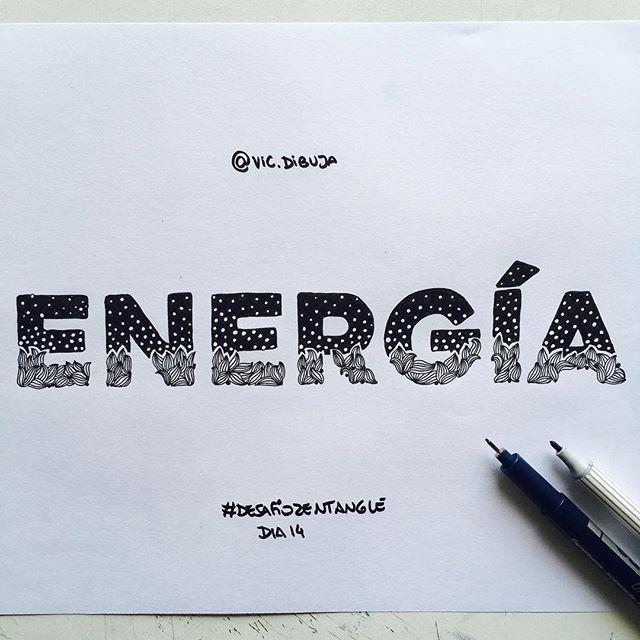 En un ratito el video! #desafiozentangle Día 15 #zentanglechallenge  #energy #energia #word #palabras #dibuko #type #typegang #typespire #diseño #graphicdesign #doodle #zentangle #doodling #zentangleart #lettering #letters #letras #tipografia #handlettering #typematters #blackandwhite #monochrome #blancoynegro
