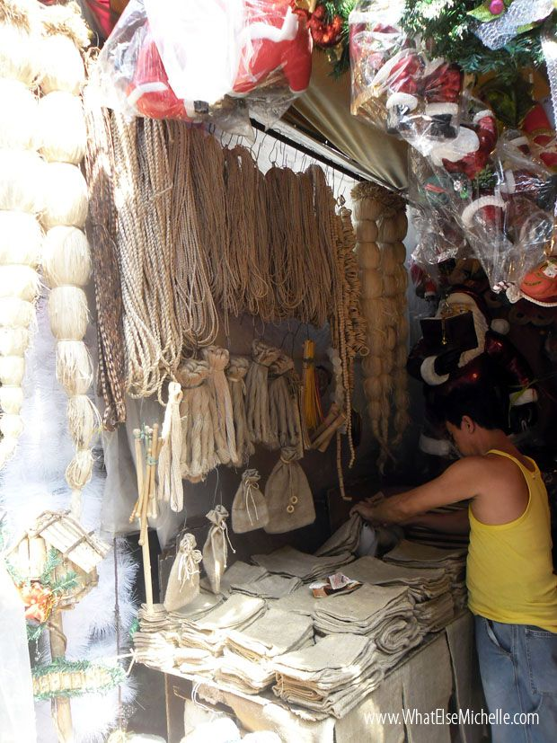 Burlap, native indigenous materials at Tabora, Manila