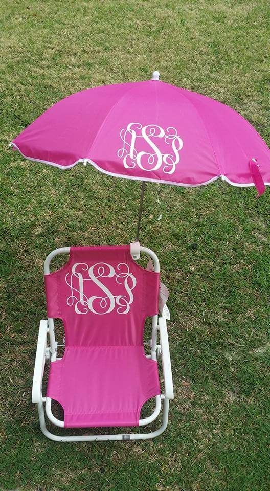 Monogrammed toddler beach chair $35 +shipping Facebook.com The Paisleigh Patch 12963730_987292451306688_9132383716694171559_n.jpg (528×960)