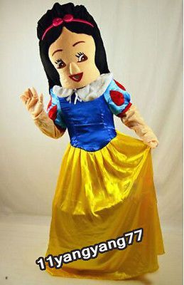 Disney Cosplay Snow White & 7 Dwarfs Cartoon Mascot Costumes Fancy Dress Outfits