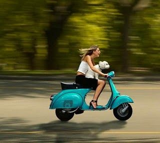 The picture says enough! Driving a Vespa is just so much fun, the dog seems to agree too! #vespa #oldtimer vespa #vespagirl