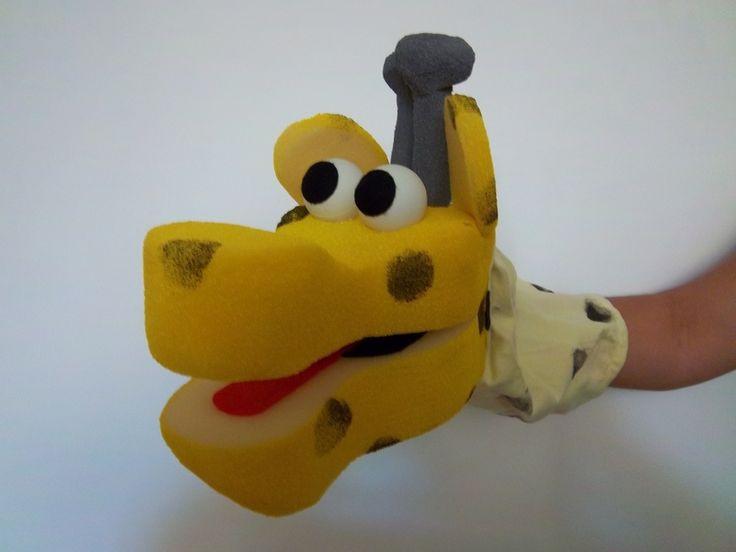 giraffe glove puppet