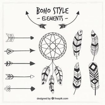 Dreamcatcher and boho elements