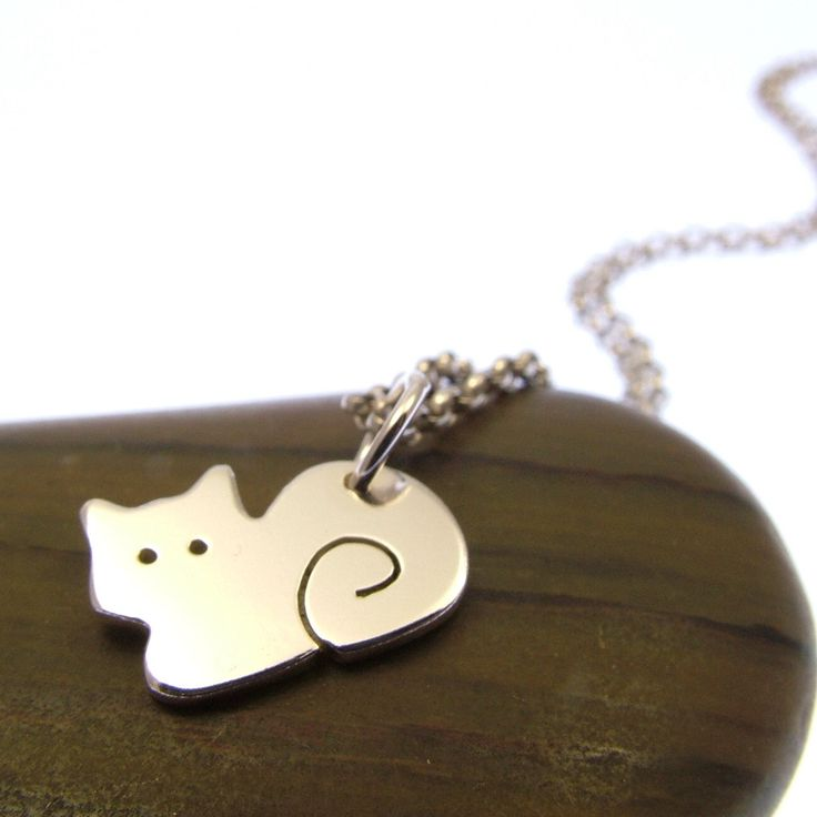 Sterling Silver Cat Necklace - Cat Jewellery - Sitting Cat - Cat Gifts by JewelleryFurKeeps on Etsy https://www.etsy.com/listing/238875894/sterling-silver-cat-necklace-cat