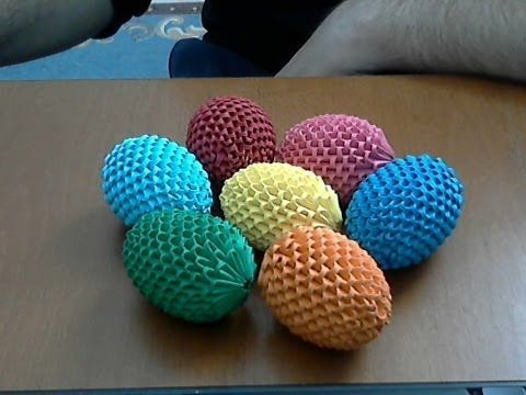 ▶ How to make 3d origami Easter egg - YouTube