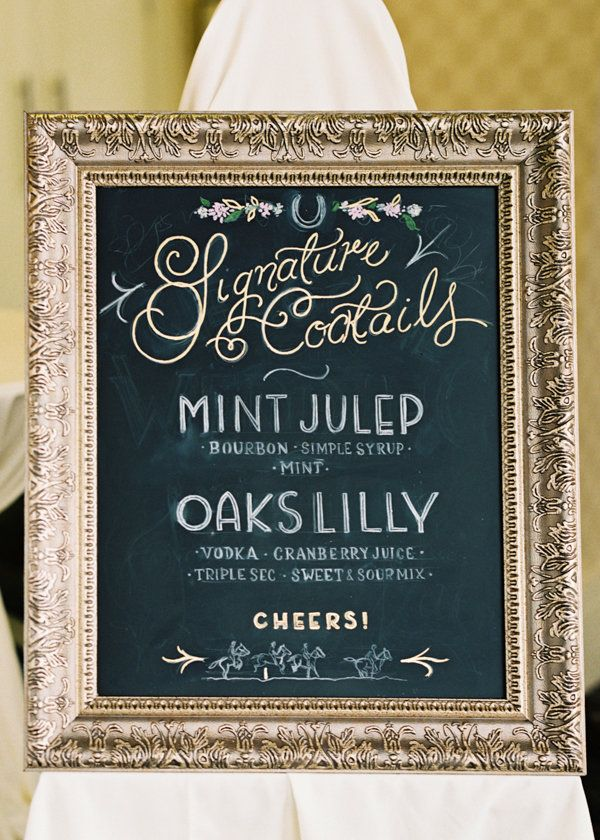 Kentucky Derby Wedding By Shannon Moffit Signature Tailswedding Drink
