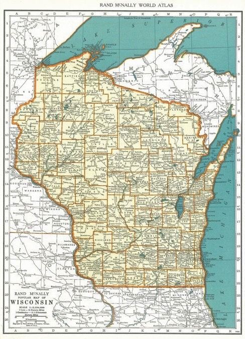 Best Wisconsin Images On Pinterest Wisconsin Maps And Michigan - Maps of wisconsin
