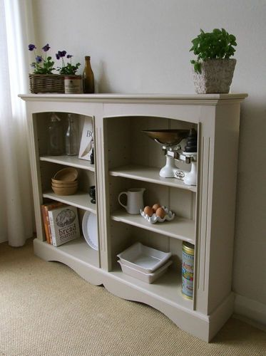 Farmhouse Style Hand Painted Shabby Chic Bookcase