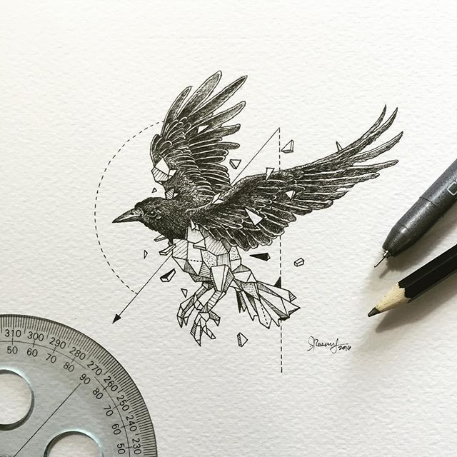 Geometric Beasts | Crow • Likes: 30526 • Comments: 365 • Posted: 2016-02-11T08:02:37+0100
