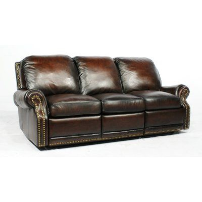 Canora Grey Timmie Leather Reclining Sofa In 2019