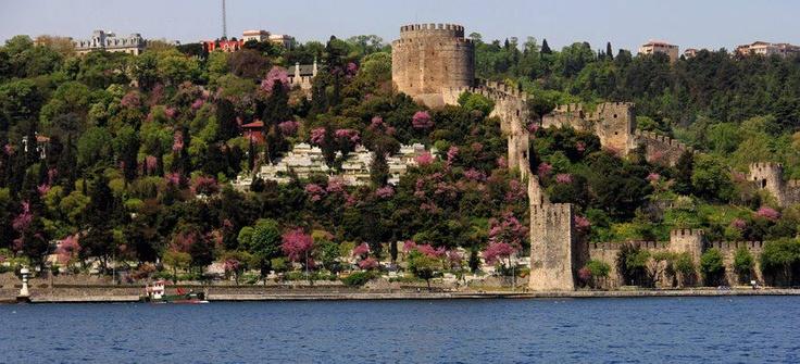Rumelihisarı as seen from the Bosphorus. Istanbul, Turkey