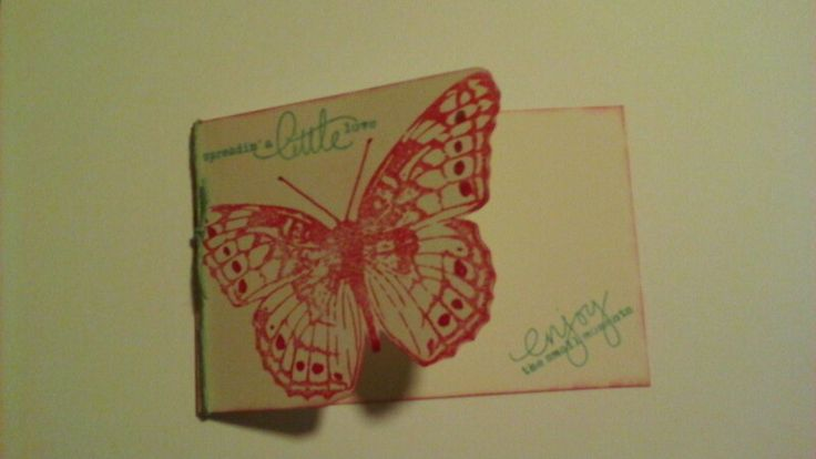 Stampendous Butterfly trio card @sprinklekl24