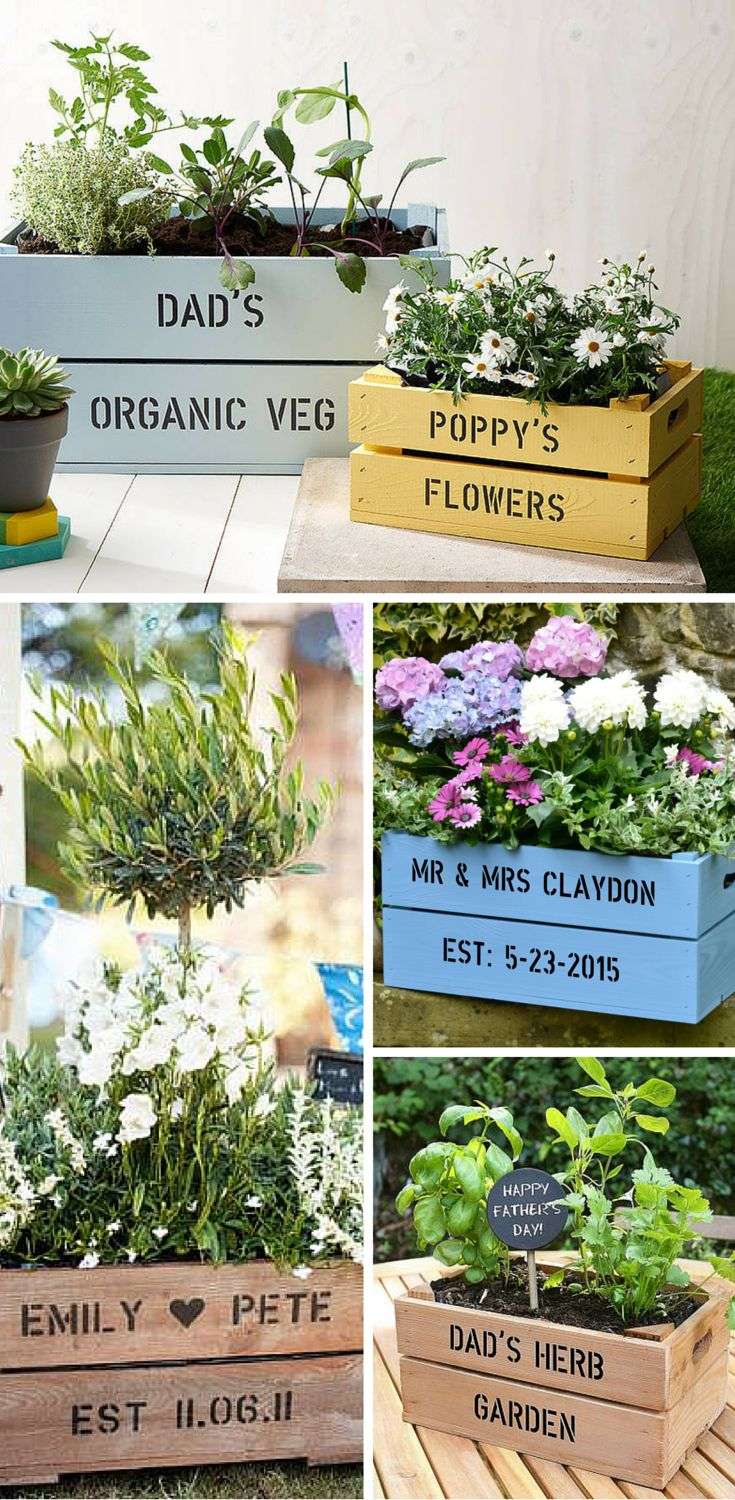 Create Your Own Custom Container Garden Of FSC Certified Pine From  PersonalizedCrates.com