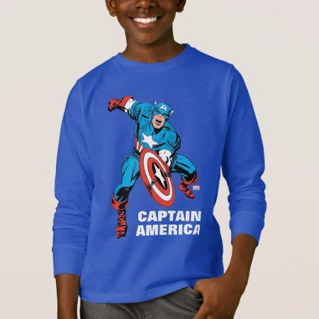Captain America Shield Slam T-Shirt - click/tap to personalize and buy