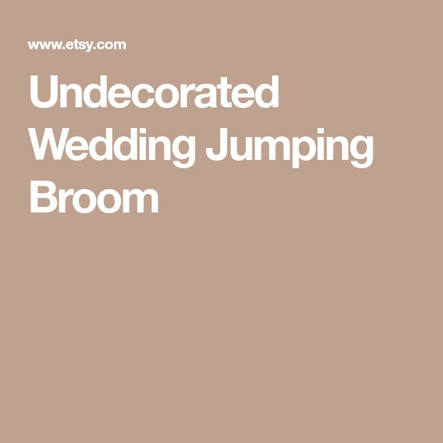 Undecorated Wedding Jumping Broom