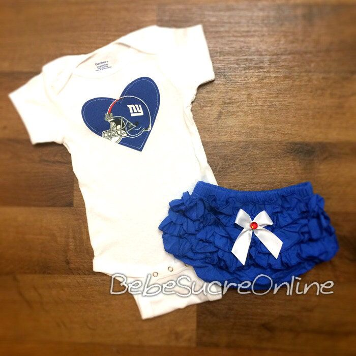 New York Giants Girls Outfit by BebeSucreOnline on Etsy, $30.00