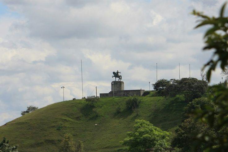 El morro de Belalcázar. Popayán  Foto por Gloria Vejarano