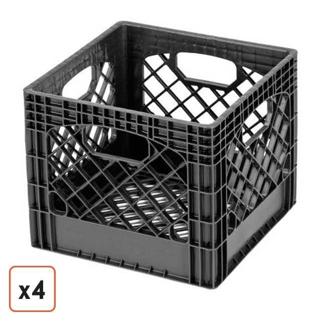 plastic milk crates storage target white free uk amazon