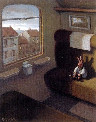 Rabbit on a Train, Michael Sowa (German Artist)