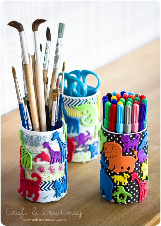 Kidu0027s Pen Holders ~ Cans Are Inexpensive, Easy To Decorate With Just About  Anything, Kids Have Fun And Mother Loves Them~ Happy Motheru0027s Day!