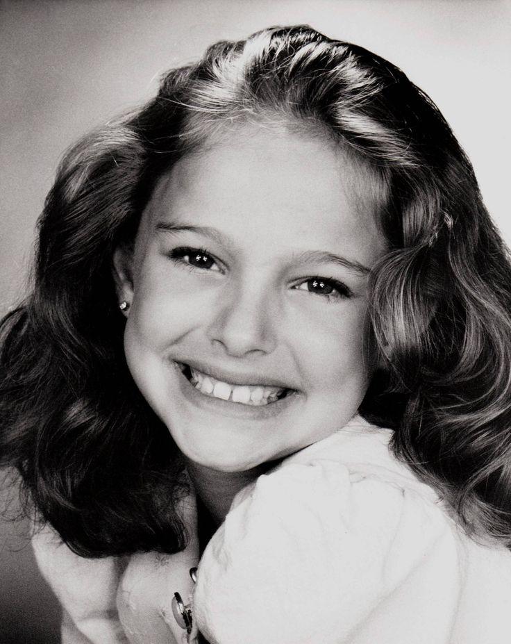 nine-year-old Natalie Portman by Kenn Hopkins