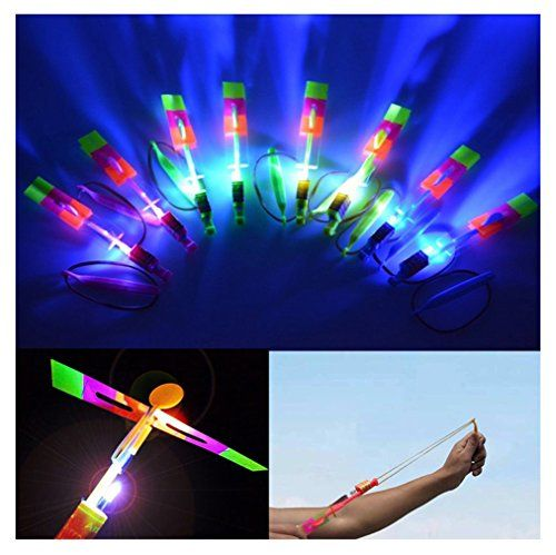 50 PCS Flying Toy LED Arrow Helicopter Elastic PoweredLooking Beautiful When It Flies in the Dark >>> More info could be found at the image url.Note:It is affiliate link to Amazon.