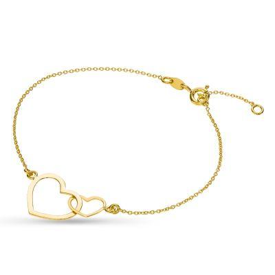 Bransoleta z elementami w kształcie serca wykonany jest ze złota próby 375. Biżuteria z kolekcji Trendy jest odpowiednia do każdego stroju i na każdy moment życia. Pięknie podkreśla kobiecość.