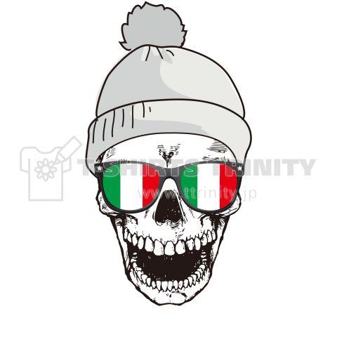 POPスカルTシャツ(イタリアバージョン)/トリコロール,国旗,パンク.スカル,髑髏,ドクロ,骸骨,Tシャツ,ロンT,パーカー,スウェット 4.6oz Fine Fit Tshirts (DALUC)