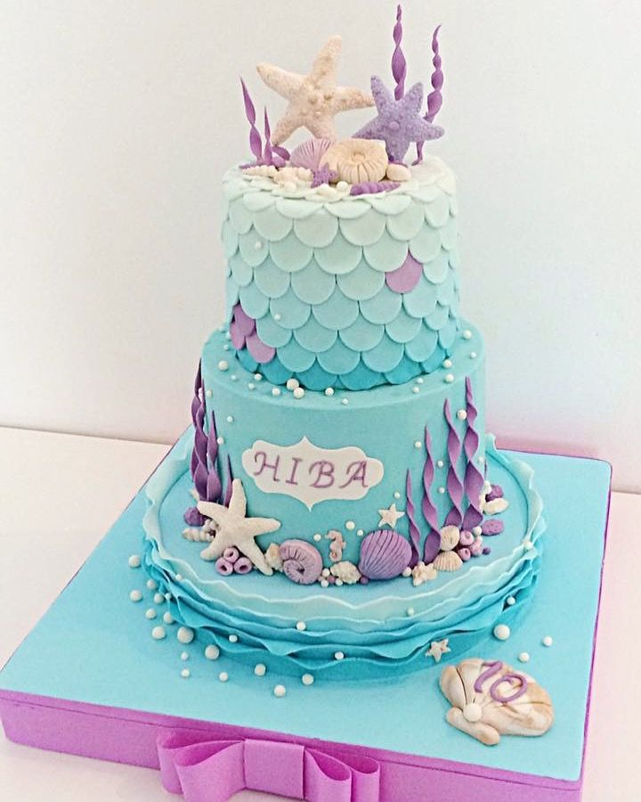 Mermaid Cake Wishes Cake In 2019 Little Mermaid