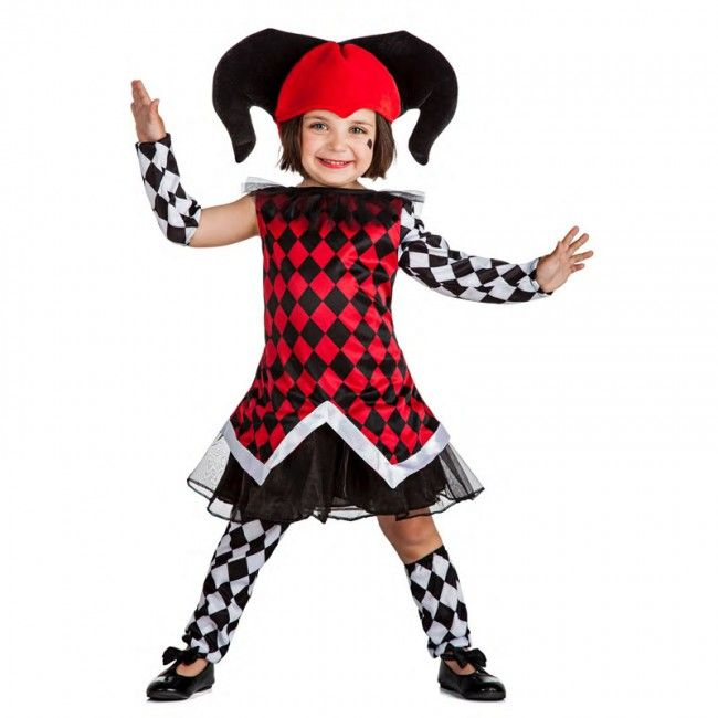 Disfraz de Arlequina para niña #disfraces #carnaval #novedades2017