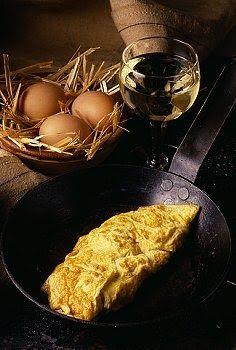 Como hacer la Omelet Francesa, basica y facil con huevos. Omelet Francesa rapida y facil. Receta de Omelet Francesa.