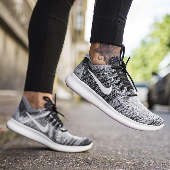 Nike Free Rn Flyknit 2017 Black White Oreo 880844 003 Women S Running Shoes New Black Wh Nike Running Shoes Women Running Shoes Nike Free Womens Running Shoes