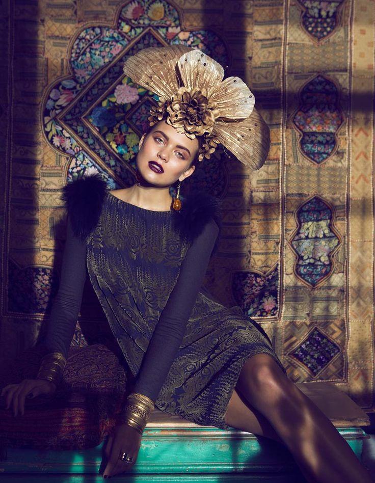 frida3 Åsa Engström Evokes Frida Kahlo in DV Mode by Fredrik Wannerstedt