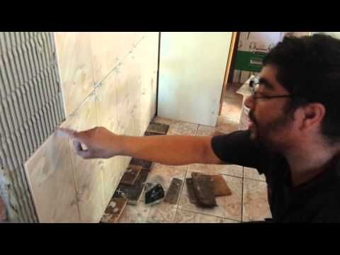 Como pegar ceramica usted mismo en ladrillo prince - YouTube