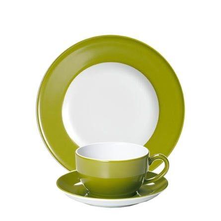 #Dibbern Solid Color Oliv - Frühstücksgedeck