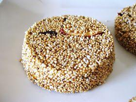 INGREDIENTES:  2tazas de Amaranto inflado  200g de chocolate blanco  ralladura de la cáscara de media naranja  un puñado de frutos secos...