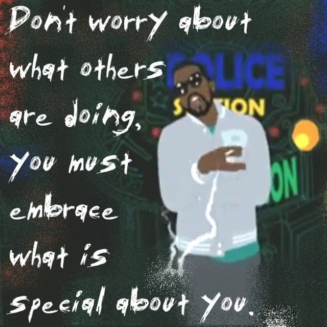 Don't worry about what others are doing..