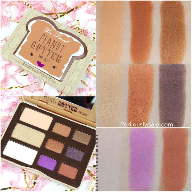 Peanuts Kiss And Makeup: Too Faced Peanut Butter And Jelly Eyeshadow Palette. An