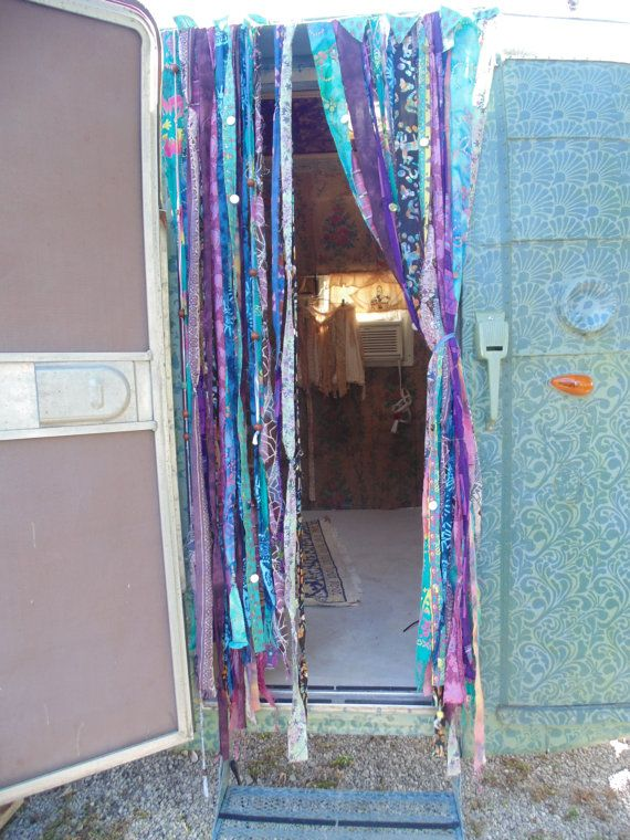 Bohemian Gypsy Vardo beaded door curtains hippie