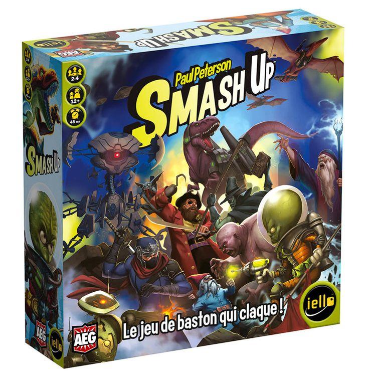 Résumé de Smash Up: Combinez deux factions et mettez-vous gentiment dessus pour conquérir des lieux riches en points de victoire! - La traduction en français par IELLO.