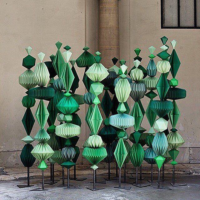 "SARAH ILLENBERGER, ""Taché Diamonds Paper Sculptures"", pinned by Ton van der Veer"