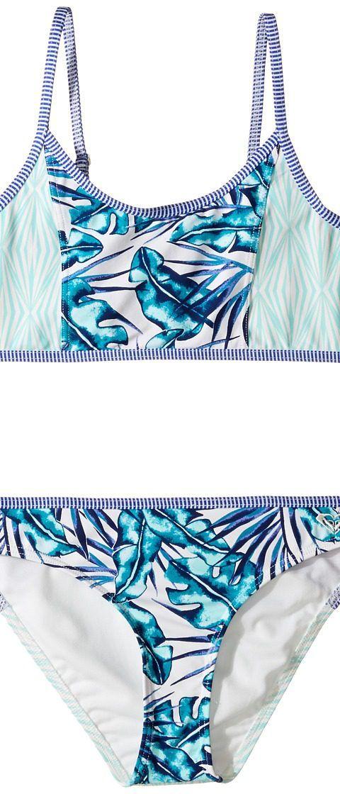 Roxy Kids Geo Mix' in Athletic Set (Big Kids) (Tropical Days/Marshmallow) Girl's Swimwear Sets - Roxy Kids, Geo Mix' in Athletic Set (Big Kids), ERGX203062-101, Apparel Sets Swimwear, Swimwear, Sets, Apparel, Clothes Clothing, Gift, - Street Fashion And Style Ideas