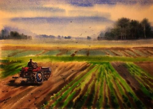 Юлия Деменкова. Старый трактор