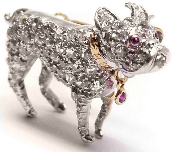 diamonds in the library art deco dog brooch platinum diamond ruby collectibles pinterest. Black Bedroom Furniture Sets. Home Design Ideas