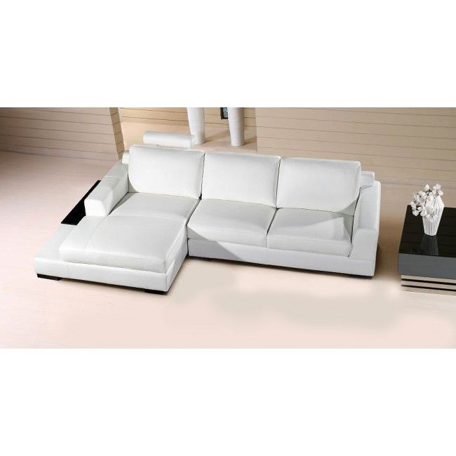 Divani Casa Soho Modern White Leather Sectional Sofa Vg2t0537