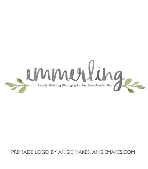 This Pretty Premade Watercolor Logo Features a Hand Painted Laurels and Some Lovely Watercolor Text. This Premade Watercolor Logo = Your New Brand.
