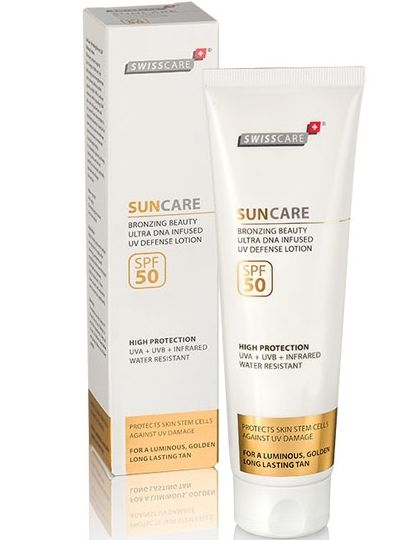 Swisscare Suncare Bronzing Beauty Ultra Dna Infused Uv Defence Lotion SPF50+ 200 ml - Vücut Güneş Koruyucu Losyon