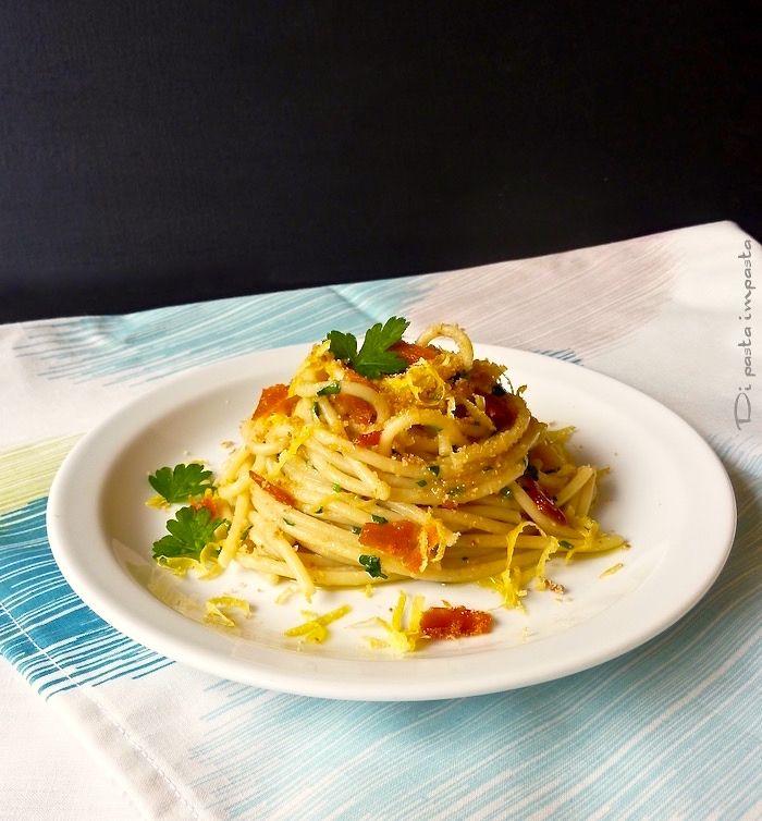 Di pasta impasta: Spaghetti con bottarga di muggine e zafferano